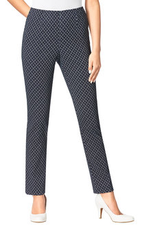 Euro Edit Printed Pants - 215974
