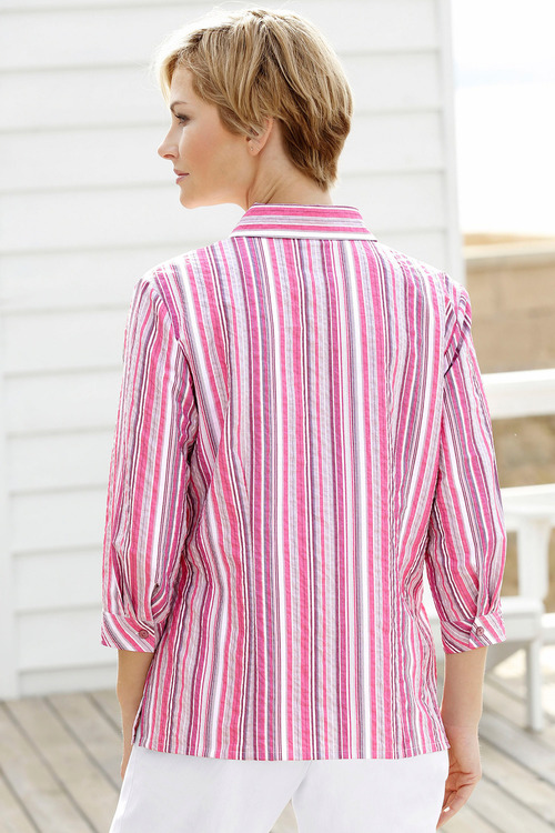 Capture European Striped Shirt