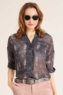 Heine Oversized Short Sleeve Blouse - 216010