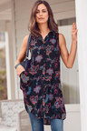 Urban Sleeveless Shirt Dress