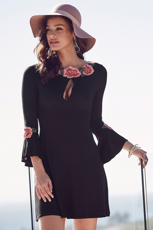 Urban Floral Embroidered Dress