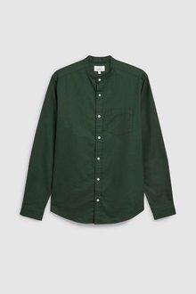 Next Long Sleeve Oxford Grandad Shirt