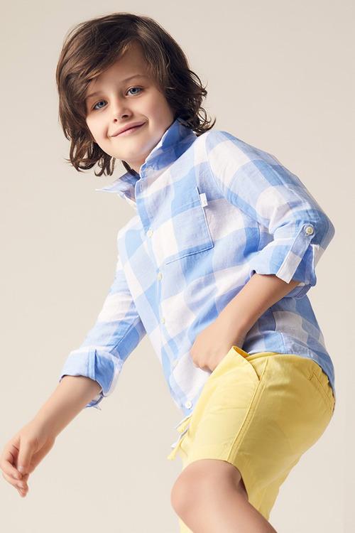 Pumpkin Patch Gingham Long Sleeve Shirt