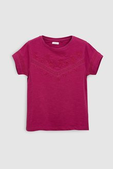 Next Lace Embroidered T-Shirt (3-16yrs)