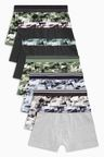 Next Camo Trunks Seven Pack (2-16yrs)