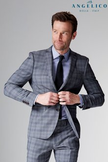 Next Signature Check Slim Fit Suit: Jacket