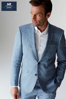 Next Signature Linen Suit: Jacket - Slim Fit - 216170
