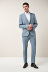 Next Signature Linen Suit: Jacket - Slim Fit