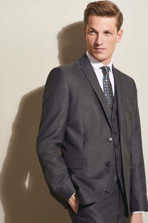 Next Textured Suit: Jacket - Slim Fit