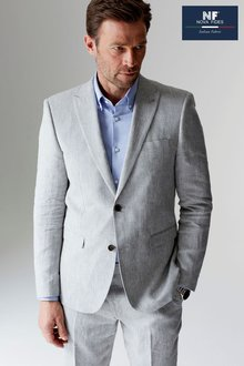 Next Signature Linen Suit: Jacket - Tailored Fit - 216176