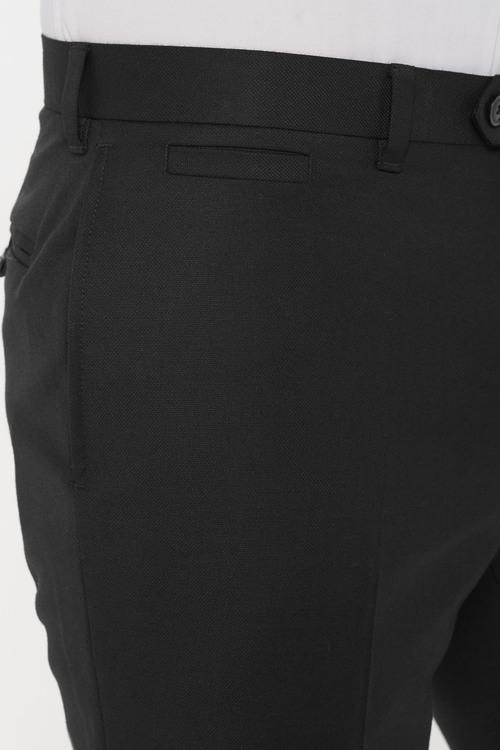 Next Wool Blend Textured Trousers - Regular Fit