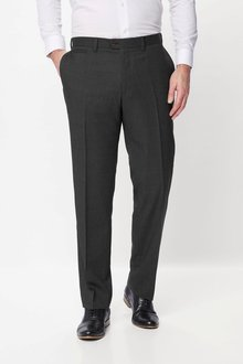 Next Wool Blend Textured Trousers - Regular Fit