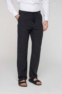 Next Linen Trousers - Regular Fit