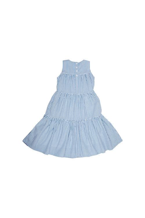 Pumpkin Patch Midi Tiered Stripe Dress