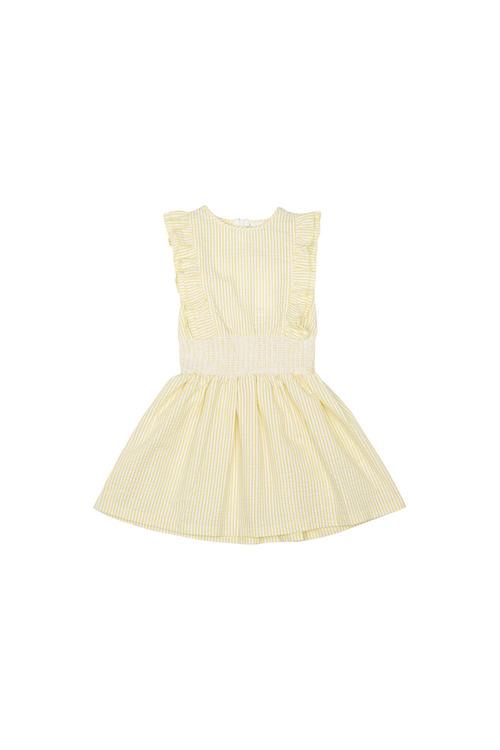 Pumpkin Patch Ruffle Sleeve Stripe Dress