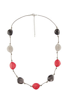 Amber Rose Carmen Multi Stone Rope Necklace