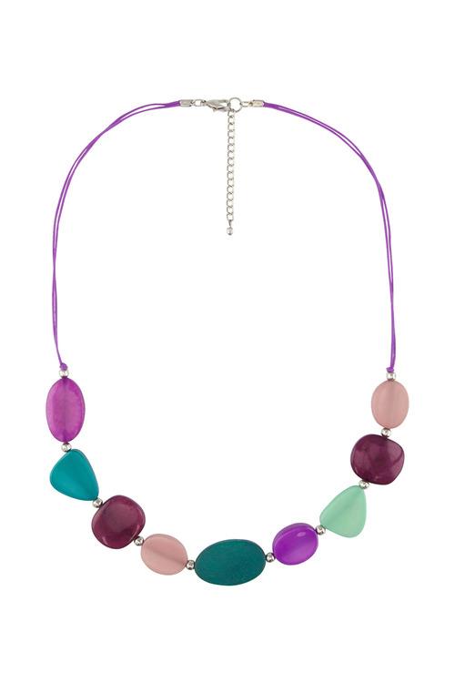 Amber Rose Urban Multi Bead Rope Necklace