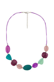 Amber Rose Urban Multi Bead Rope Necklace