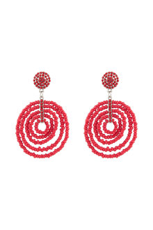 Amber Rose Carmen Beaded Circle Earrings