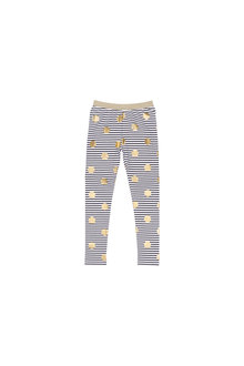 Pumpkin Patch Foil Spot Stripe Legging