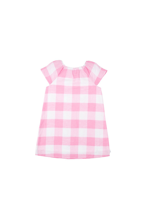 Pumpkin Patch Gingham Swing Dress