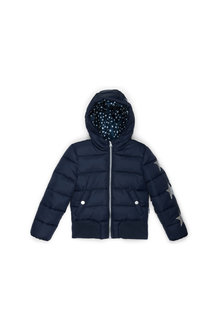 Pumpkin Patch Hooded Sleeve Puffa Jacket