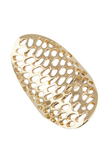 Amber Rose Halycon Mesh Finger Ring