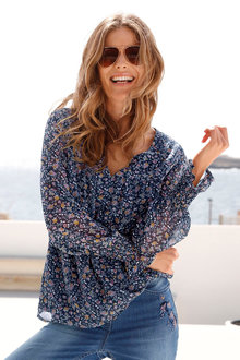 Euro Edit Ditsy Floral Blouse