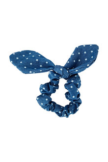Pumpkin Patch Polka Dot Stretch Scrunchie Bow