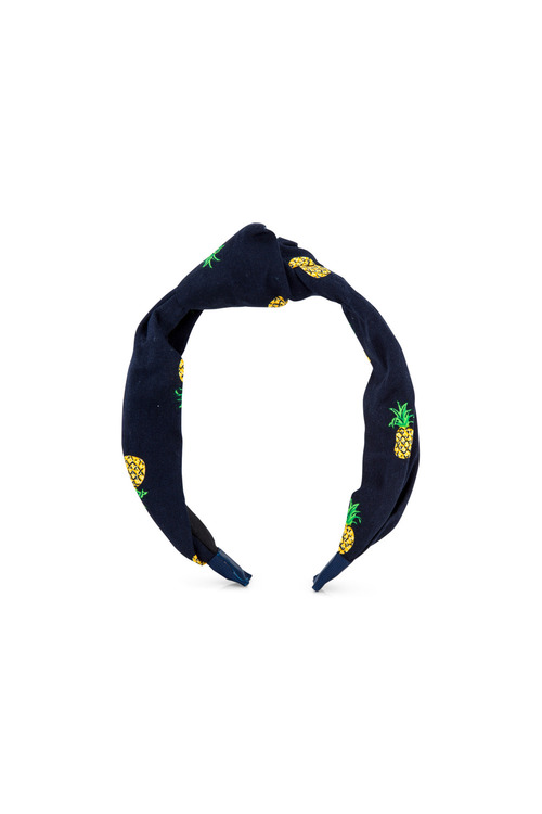 Pumpkin Patch Pineapple Print Knot Headband