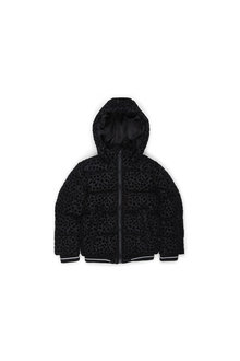 Pumpkin Patch Girls Hooded Ocelot Print Puffa Jacket