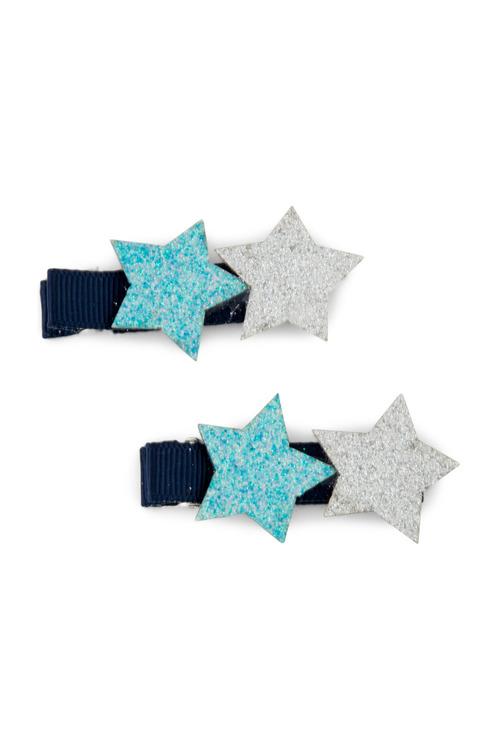 Pumpkin Patch Glitter Star Clips 2-Pack