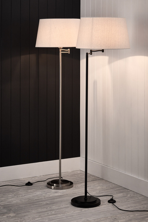 Metal Library Floor Lamp