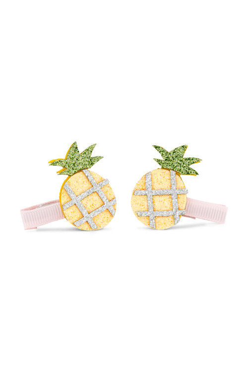 Pumpkin Patch Glitter Pineapple Clips 2-Pack