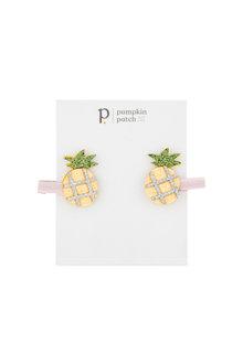 Pumpkin Patch Glitter Pineapple Clips 2-Pack