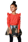 Pumpkin Patch Frill Long Sleeve Top