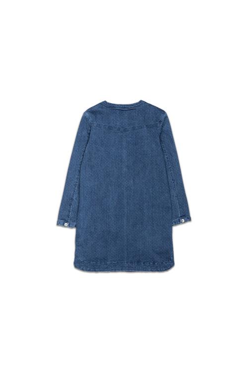 Pumpkin Patch Needle Stitch Denim Dress