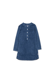 Pumpkin Patch Needle Stitch Denim Dress