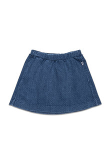 Pumpkin Patch Needle Stitch Denim Skirt