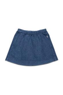 Pumpkin Patch Needle Stitch Denim Skirt