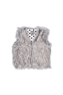 Pumpkin Patch Faux Fur Vest
