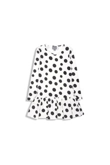 Pumpkin Patch Spot Flip Hem Dress
