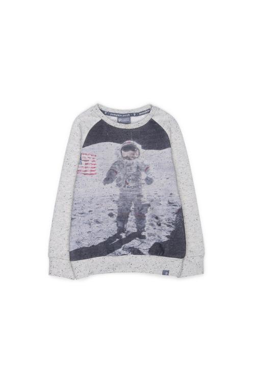 Pumpkin Patch Astronaut Crew Sweater