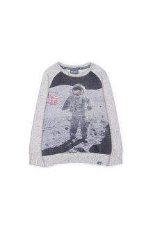 Pumpkin Patch Astronaut Crew Sweater