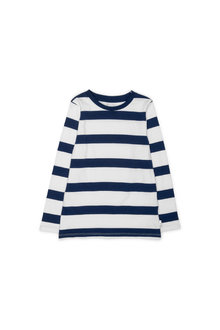Pumpkin Patch Stripe Long Sleeve Tee