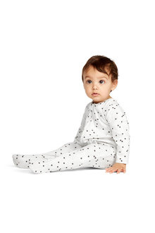 Pumpkin Patch Long Sleeve Spot Zip Jumpsuit