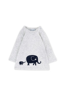 Pumpkin Patch Elephant Long Sleeve Tee
