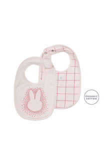 Pumpkin Patch Bunny Face Geo Cube Bib