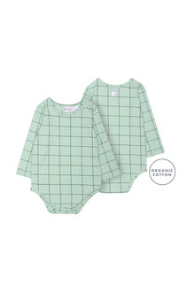 Pumpkin Patch Geo Cube Long Sleeve Bodysuit