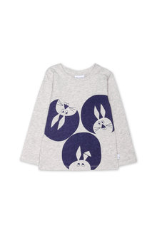 Pumpkin Patch Bunny Circle Long Sleeve Tee